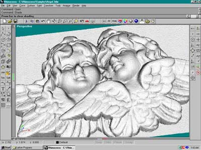 The Angels Were Digitized On With Larken Digitizer And Imported